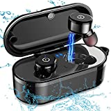 IPX8 Waterproof Bluetooth Headphones, Wireless Earbuds Deep Bass Stereo Sound Wireless Headphones With Mic Car Bluetooth Headset and Wireless Charging Box Bluetooth Earbuds for iPhone Android Phone