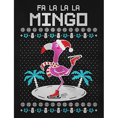 teestars fa la la flamingo ugly christmas sweater funny youth kids sweatshirt small black