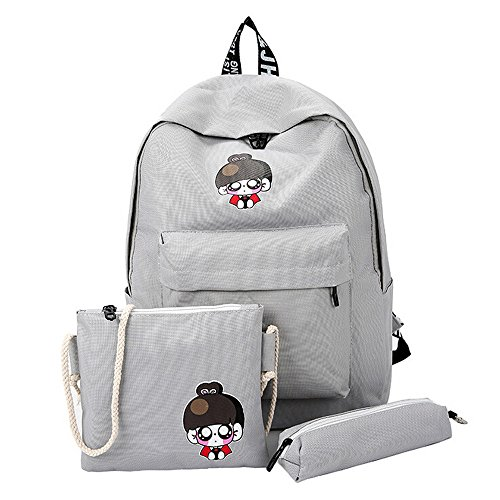 DDKK backpacks 2019 3 Pcs Canvas School Backpacks Casual Laptop Bag Shoulder Bag for Teen Girls Boys