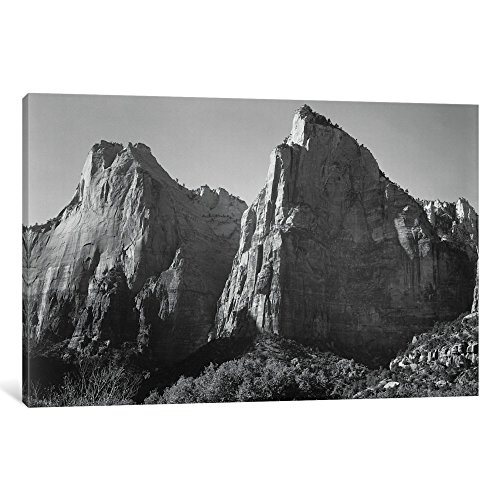 iCanvasART AAD30-1PC3-26x18 Court of the Patriarchs, Zion National Park Gallery Wrapped Canvas Art Print by Ansel Adams, 18
