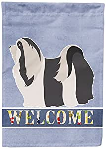 Caroline's Treasures BB8314CHF Havanese Welcome Canvas House Flag, Multicolor
