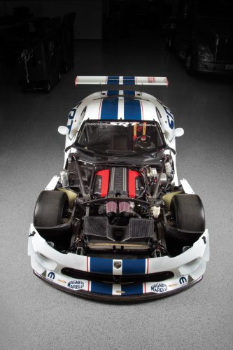 """Dodge SRT Viper GT3-R (2013) Car Art Poster Print on 10 mil Archival Satin White Front w/Hood Off View 20""""x15"""""""
