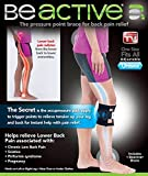 Be ACTIVE Brace Acupressure Pad Back Pain Sciatica As Seen on TV (Pack of 3)