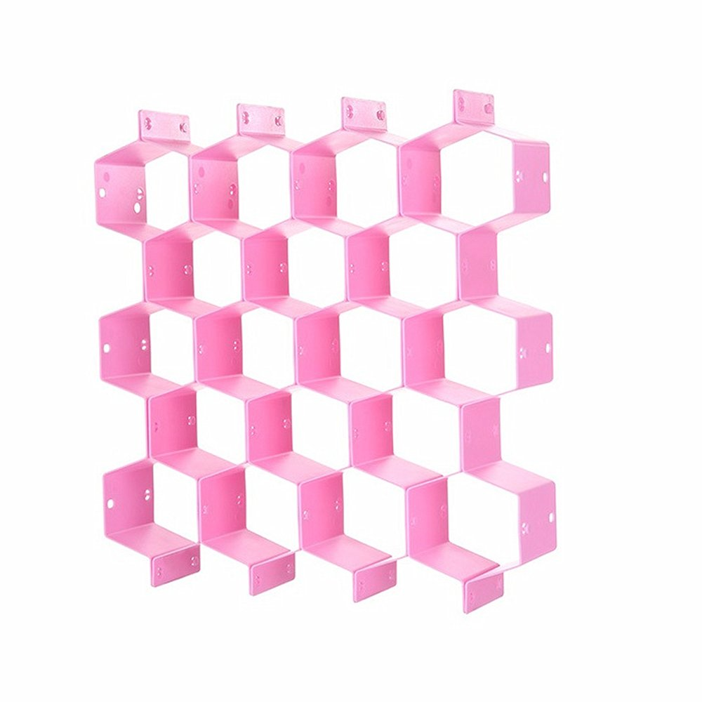 Huayoung Honeycomb Drawer Partitions Creative Sectional Drawer Organizers Best for Your Drawers (Pink)