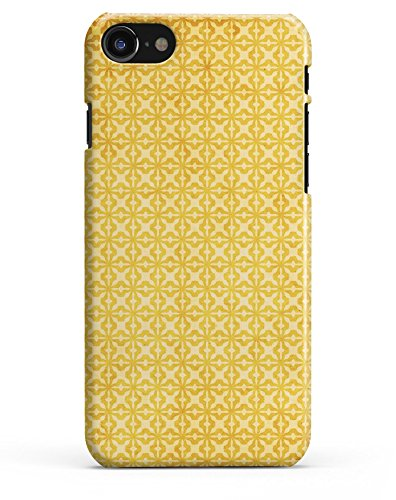 Cross Pattern Yellow (Mustard Yellow Cross Pattern - Durable Protective Hard Case / Fits the 4.7