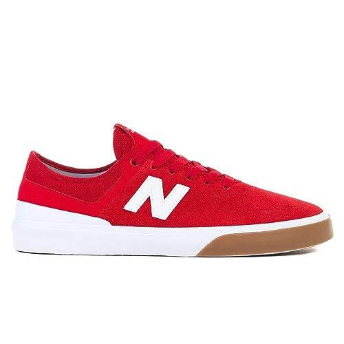 new balance 500 hombres blanco y rojo