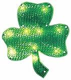 "Northlight  Lighted St. Patrick's Day Irish Shamrock Window Silhouette Decoration, 15"""