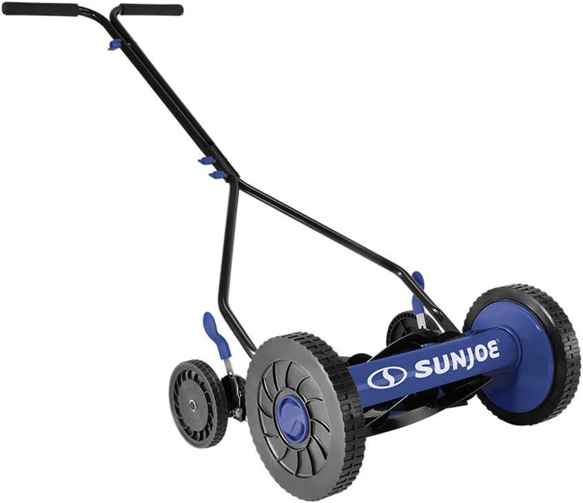 Renewed 14-Inch Quad Wheel Sun Joe MJ503M-SJB-RM Manual Reel Mower ...