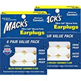 Macks Pillow Soft Silicone Earplugs Value Pack, 6 Count (Pack of 2)
