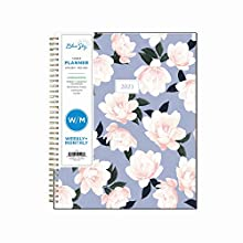 """Blue Sky 2021 Weekly & Monthly Planner, Frosted Flexible Cover, Twin-Wire Binding, 8.5"""" x 11"""", Hazel (122196)"""