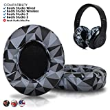 Upgraded Beats Replacement Ear Pads by Wicked Cushions - Compatible with Studio 2.0 Wired/Wireless and Studio 3 Over Ear Headphones by Dr. Dre ONLY (Does NOT FIT Solo) (Geo Grey)