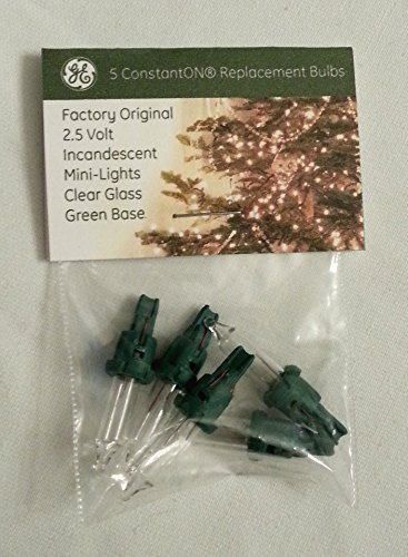 Lights Bulbs Spare Christmas - 5PK 2.5V CLR Repl Bulb