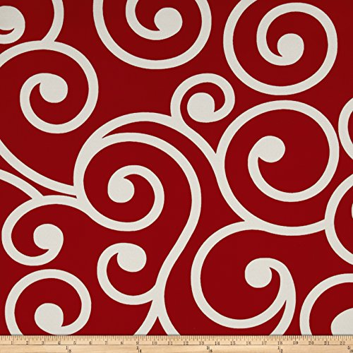 Richloom Solarium Outdoor Best Red Fabric By The Yard (Fabric Best Boat For Cushions)
