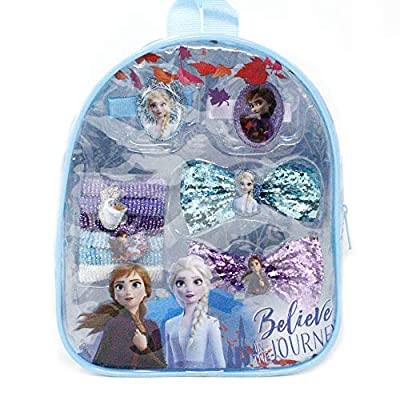 Frozen 2 Girls Backpack with Hair Accessory Toy Set: Beauty