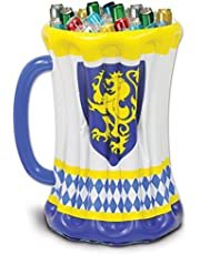 Beistle 54079 Inflatable Beer Stein Cooler, 18-Inch Width X 27-Inch Height, Yellow/White/Blue