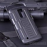 LG K10 / LG Premier / LG K420N Case, Cocomii Robot Armor NEW [Heavy Duty] Premium Belt Clip Holster Kickstand Shockproof Hard Bumper Shell [Military Defender] Full Body Dual Layer Rugged Cover (Black)