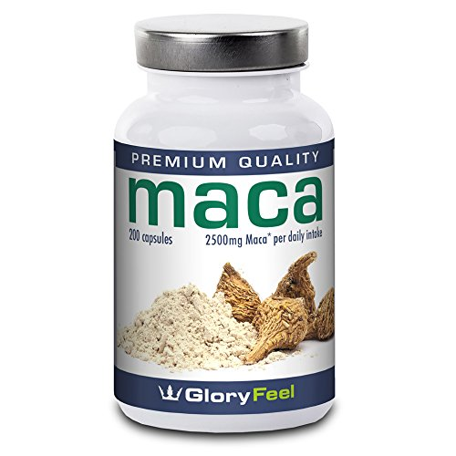 Maca Root Capsules - 200 Vegan Caps - Comparison Winner* - High Strength...