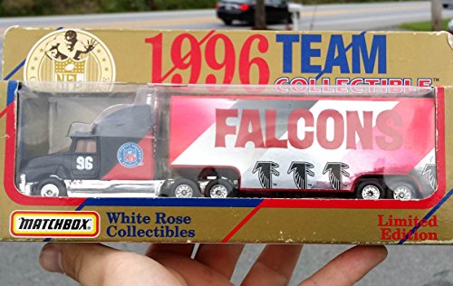 Nfl Football Diecast Collectible - Matchbox 1996 ATLANTA FALCONS NFL FOOTBALL Tractor Trailer Truck in 1:87 Scale Diecast
