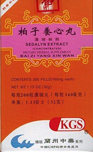 SEDALYN EXTRACT (BAI ZI YANG XIN WAN) 160mg X 200 pills per bottle (1)