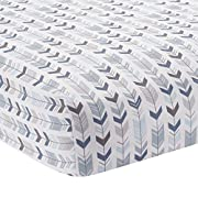 Lambs & Ivy Signature Montana Fitted Crib Sheet - Blue/Gray/White Arrow