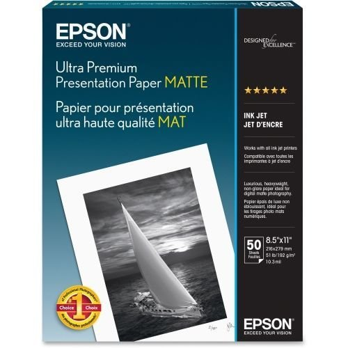 Epson 8.5 x 11in Ultra Premium Presentation Paper for Inkjet