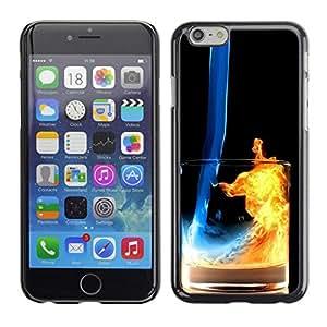 Caucho caso de Shell duro de la cubierta de accesorios de protección BY RAYDREAMMM - Apple Iphone 6 Plus 5.5 - Fuego y Agua Cóctel