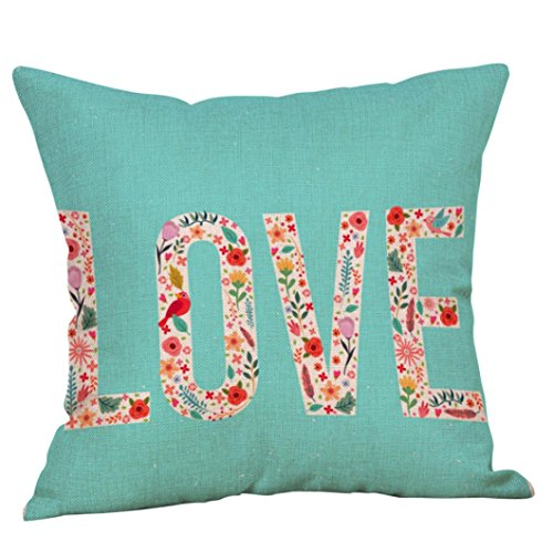 Clearance Square Pillowcase, Leyorie Cute LOVE Throw Pillow Case Home Decor Sweet Cushion Cover