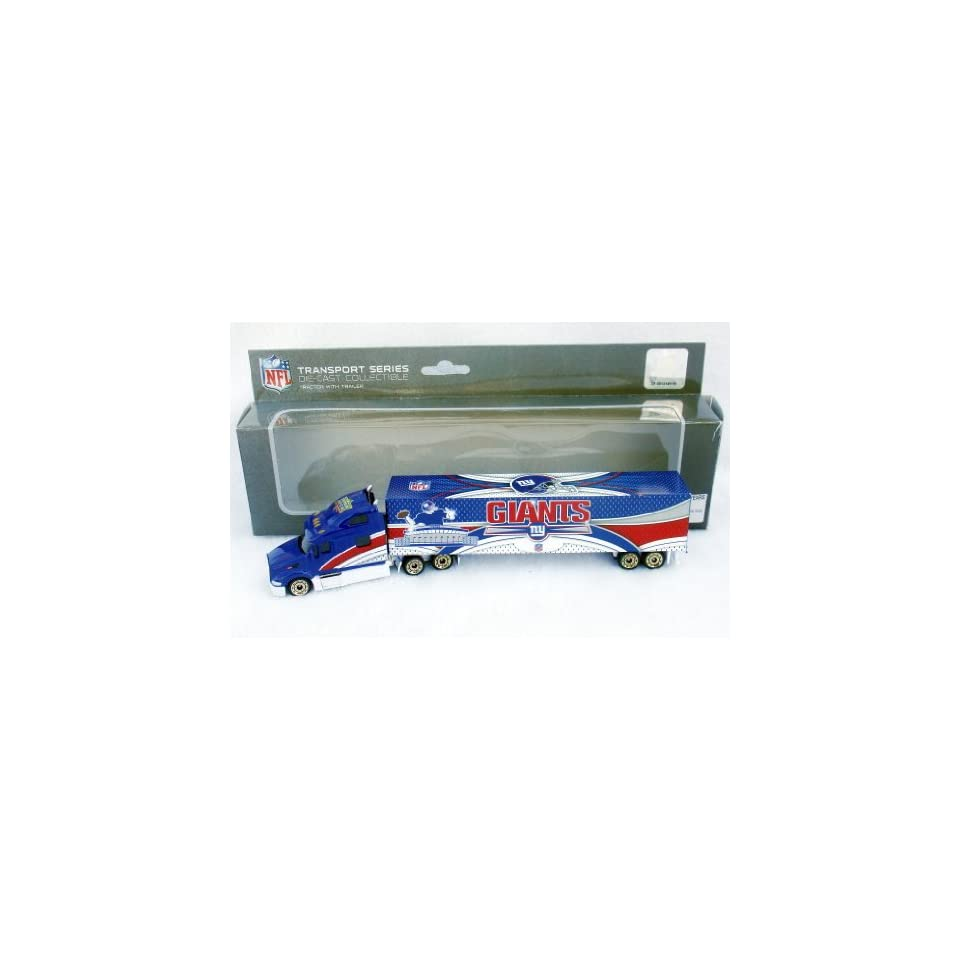 LIMITED EDITION GOLD WHEELS VARIATION 2008 NEW YORK GIANTS NFL SEMI DIECAST TRACTOR TRAILER TRUCK by UPPERDECK