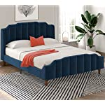 SHA-CERLIN-Upholstered-Queen-Size-Bed-Frame-with-Modern-Curved-Upholstered-Wingback-Headboard-Heavy-Duty-Wood-Platform-Bed-with-Strong-Wood-Slat-Support-No-Box-Spring-Needed-Navy-Blue