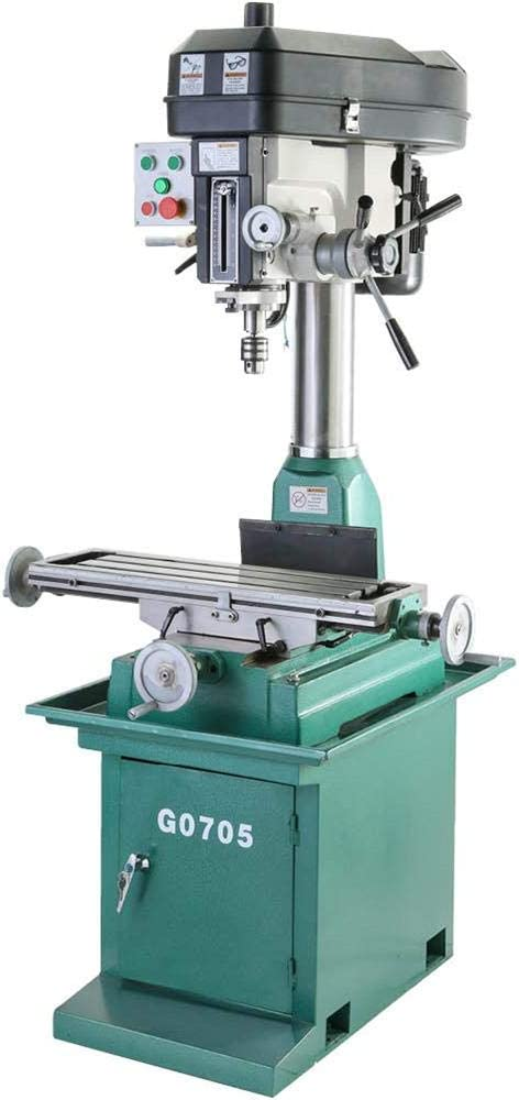 Grizzly Industrial G0705-8 x 29 2 HP Mill Drill with Stand