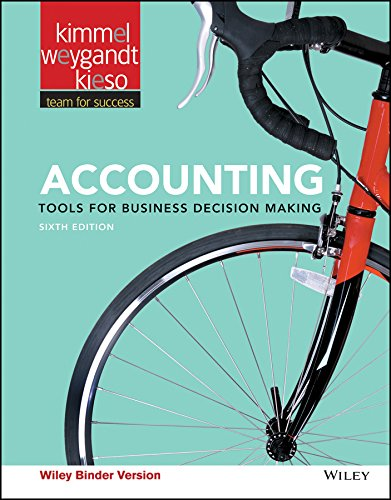 Accounting, Binder Ready Version: Tools for Business Decision Making – Standalone book