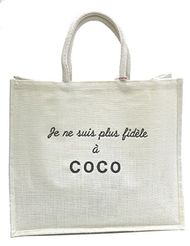 """Sac cabas """"Je ne suis plus fidèle à Coco"""" IMPROBABLES"""