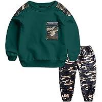 Conquro Big Boy Casual Niño Niño Ropa Deportiva Camuflaje Carta Top + Pantalones de Camuflaje Conjunto 0-5 años Teen…