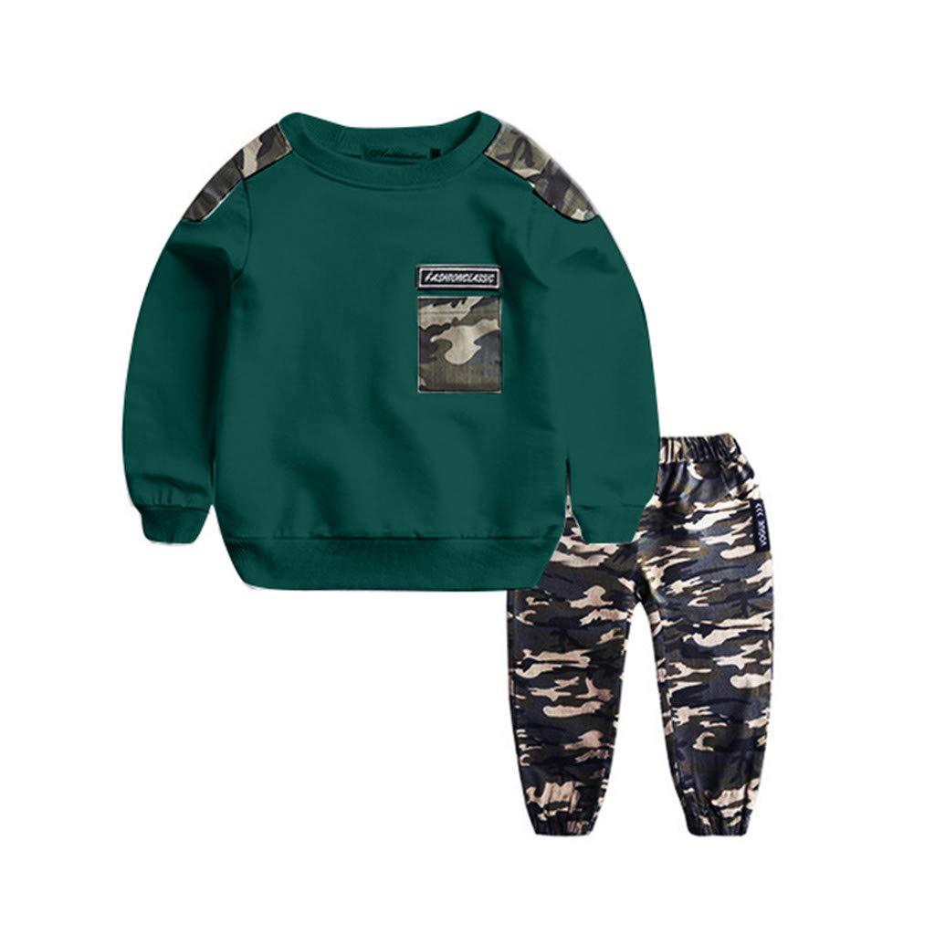 Kids Girl Sunflower Casual Outfits Sweatshirt T-shirt Top Pants Tracksuit Set
