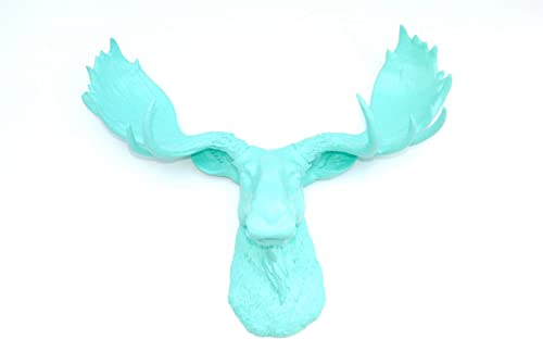 Near and Deer Large Faux Moose Head Wall Mount Elegant and Vibrant Decor Wine