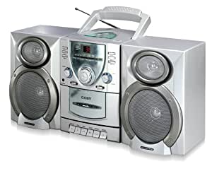 Coby CX-CD400 Mini Hi-Fi System with CD Player, Cassette Deck, and AM/FM Tuner (Discontinued by Manufacturer)