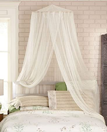 Bed Canopy Curtains Set Of 8 Tab Top Panels U0026 4 Tie Backs
