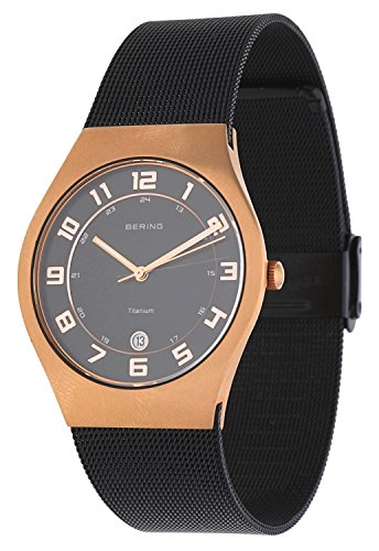 BERING Time 11937-262 Unisex Titanium Collection Watch with Stainless-Steel Strap and scratch resistent sapphire crystal. Designed in Denmark