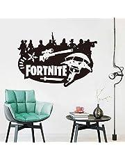Fortnite Wall Sticker Bedroom Home Decor Black Engraving Fortnite Wall Decal Stickers-8QZ1229