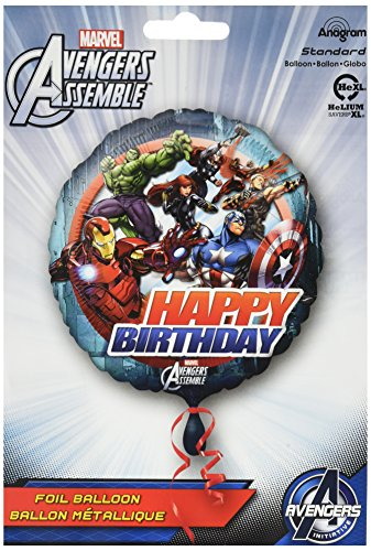 Anagram International HX Avengers Animated Birthday Party Balloons, Multicolor - Animated Birthday Party