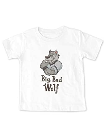 78cd98811def cute & funny Big Bad Wolf Baby Infant Toddler Tee Shirt (12 Months Infant  Shirt