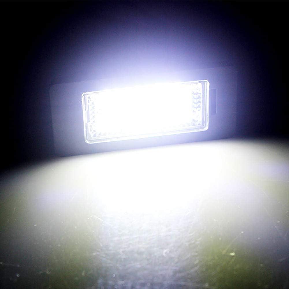 barsku 2 St/ück Kennzeichenbeleuchtung Kennzeichenbeleuchtung LED Kfz Kennzeichenbeleuchtung Lampen f/ür B-M-W E90 E92 E93 E39 E82 E88