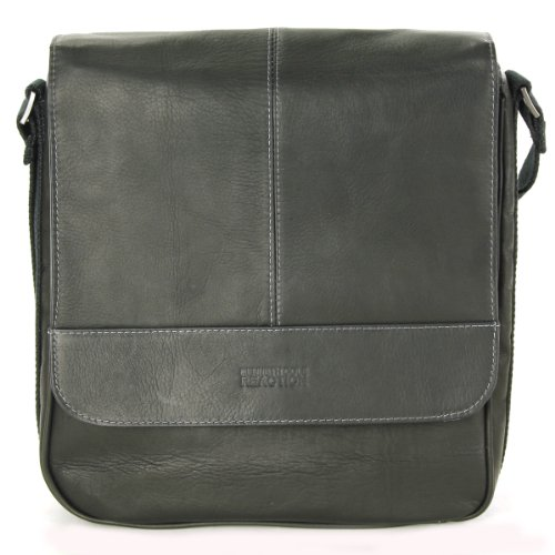 Kenneth Cole Reaction Luggage A New Bag Inning with Magnetic Snap Closure, Black, One Size Kenneth Cole Cowhide Messenger Bag