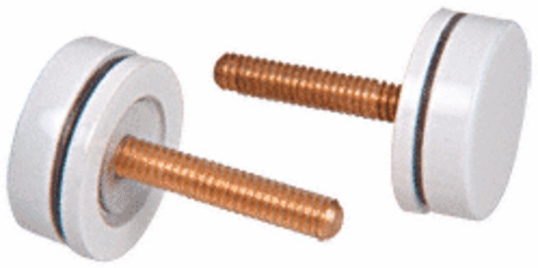 CRL White Replacement Washer/Stud Kits for Single-Sided Solid Pull Handle - 30SKW