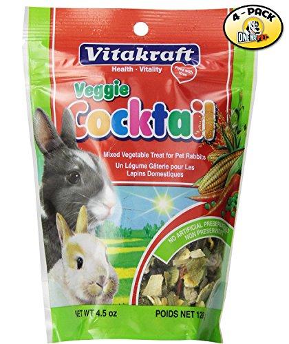 Vitakraft Mixed Veggie Cocktail Treat for Rabbits - 4 PACK -