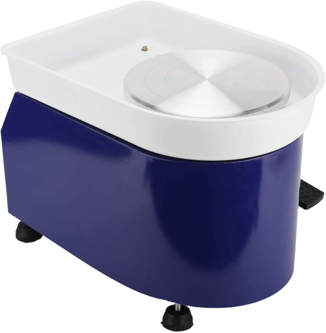Pottery Wheel Machine 350W Ceramic Clay DIY Work Forming Machine Lever and Foot Pedal ABS Basin 25CM Blue 10