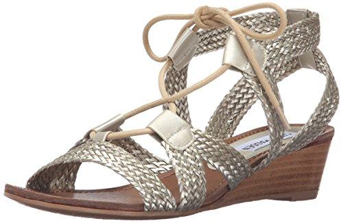 Steve Madden Women's Rorii Wedge Sandal, Gold, 7 M US