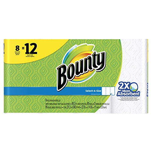 (Bounty Select-A-Size Paper Towels, White, Giant Roll, 8 Count)