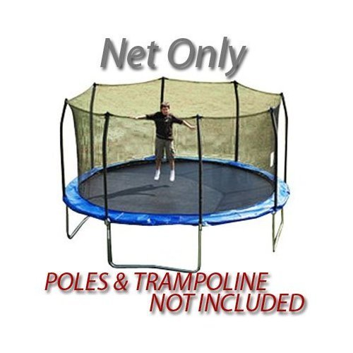 16' PREMIUM TRAMPOLINE REPLACEMENT NET FOR 8 POLES by Trampoline Depot