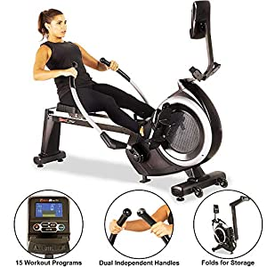 Well-Being-Matters 51HNVy9jsOL._SS300_ Fitness Reality 4000MR Magnetic Rower Rowing Machine with 15 Workout Programs, 2677, Black